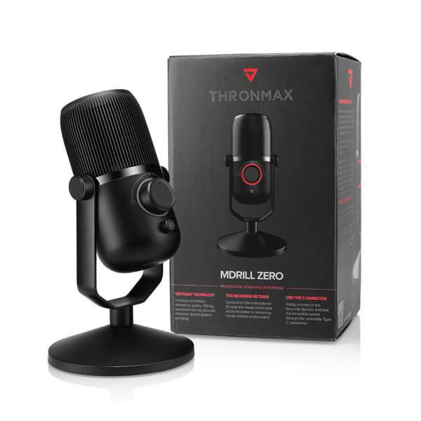 Microphone Thronmax Mdrill Zero Jet Black 48Khz-4