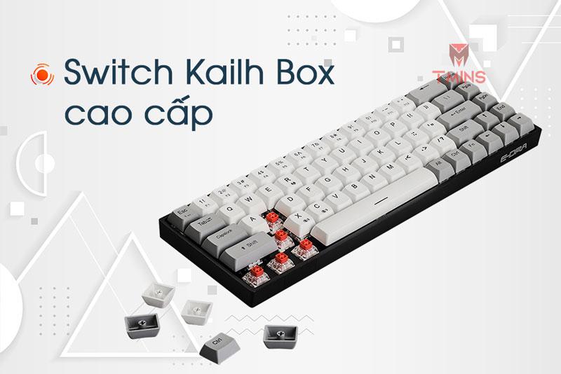 Bàn phím cơ E-Dra EK368W | Switch Kailh Box cao cấp