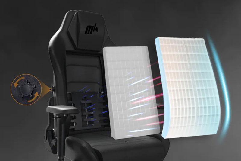 Lưng ghế với kiểu dáng công thái học | DXRacer Master Series
