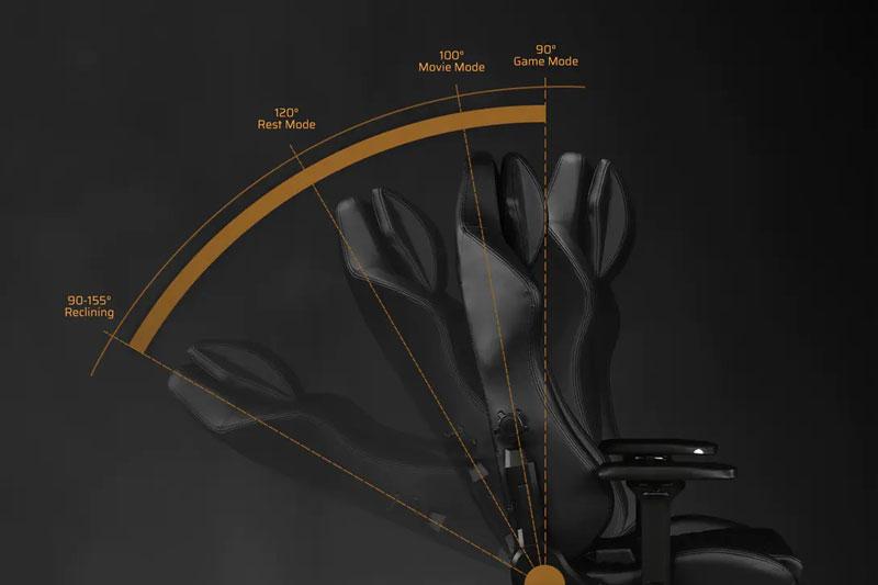 Cơ chế ngã lưng lên đến 155 độ | DXRacer Master Series